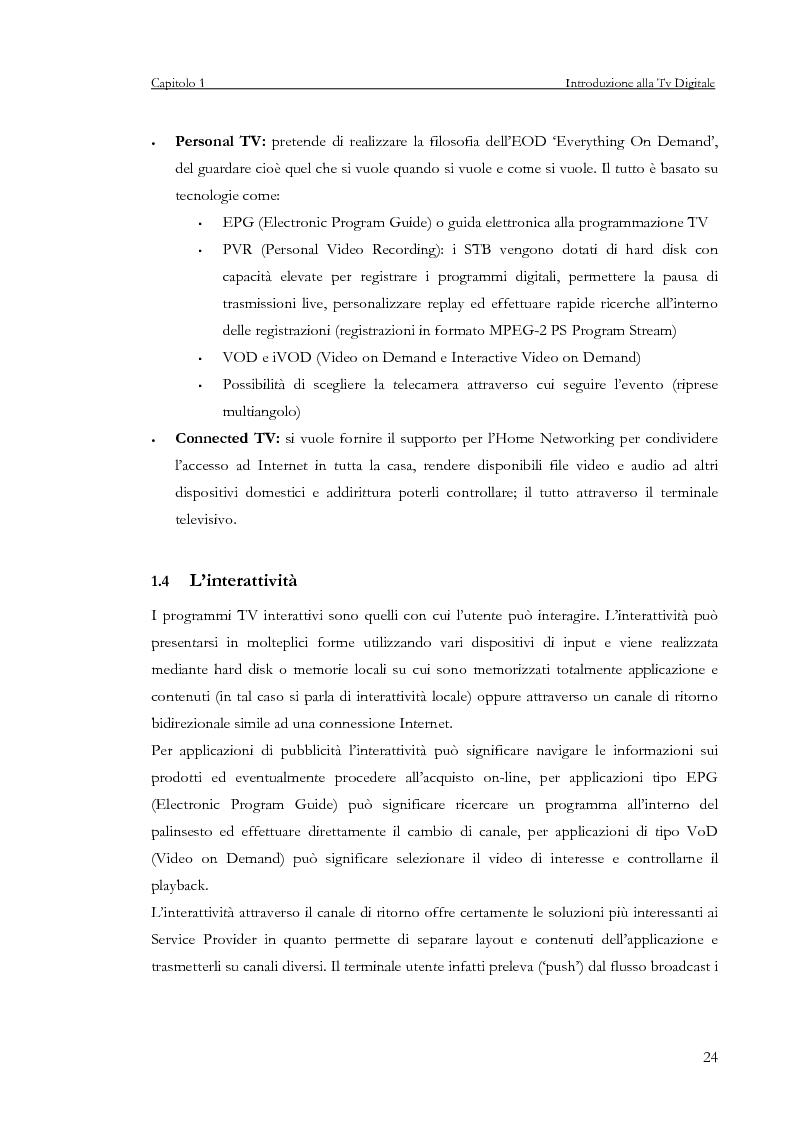 Anteprima della tesi: Sviluppo di un servizio di teleprenotazione eventi per Tv digitale su piattaforma DVB-MHP, Pagina 13