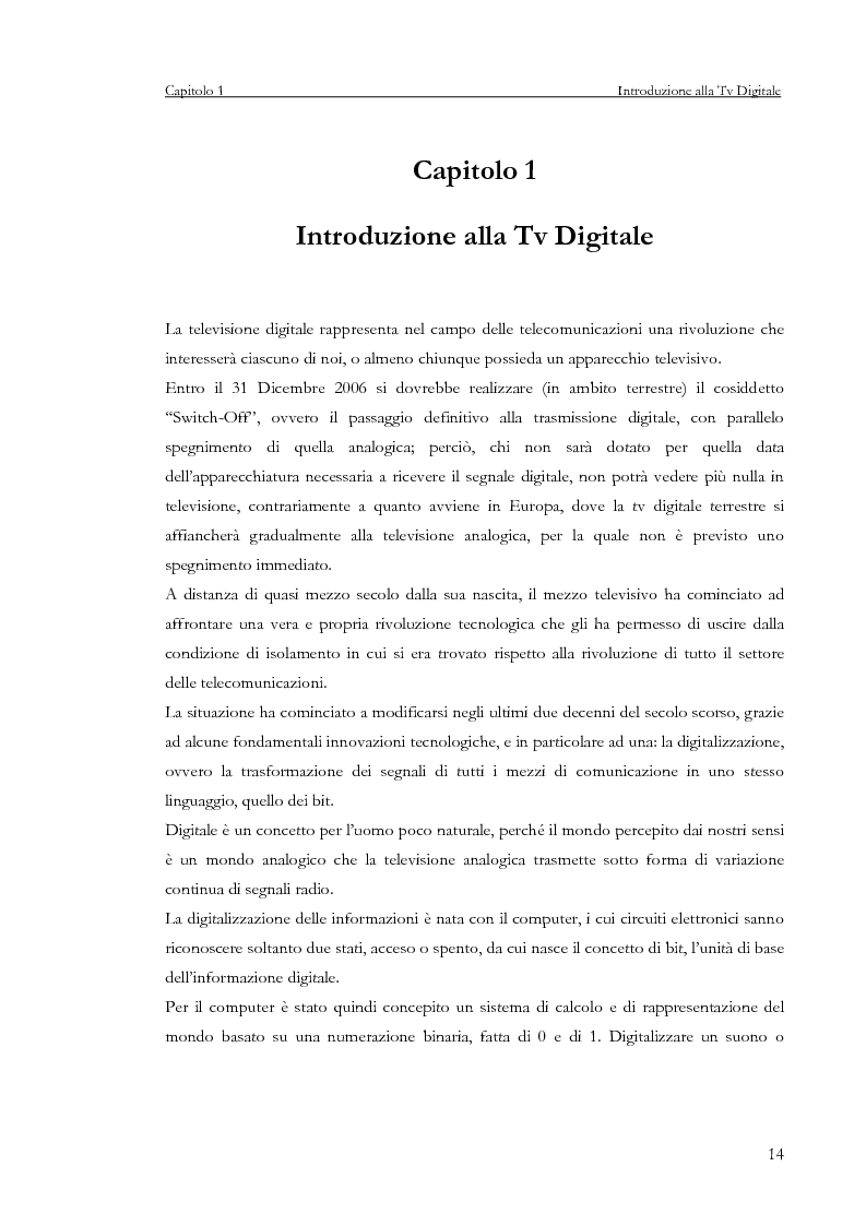 Anteprima della tesi: Sviluppo di un servizio di teleprenotazione eventi per Tv digitale su piattaforma DVB-MHP, Pagina 3
