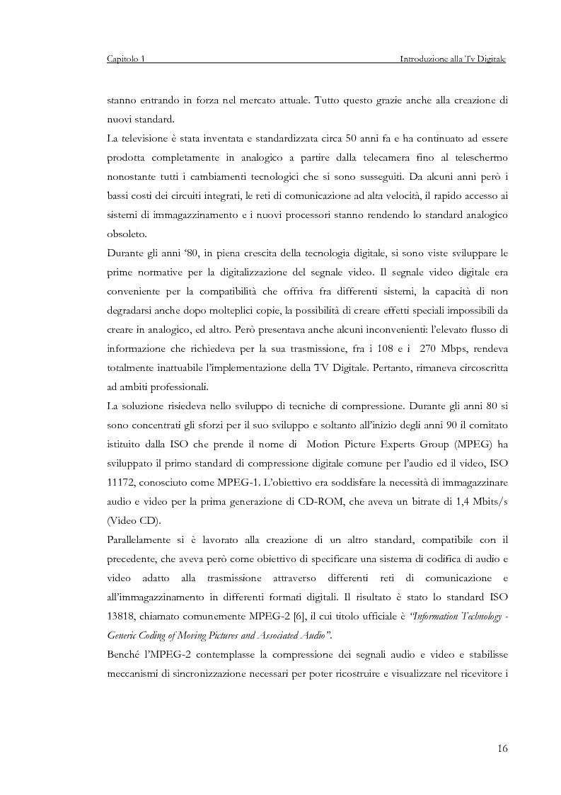Anteprima della tesi: Sviluppo di un servizio di teleprenotazione eventi per Tv digitale su piattaforma DVB-MHP, Pagina 5