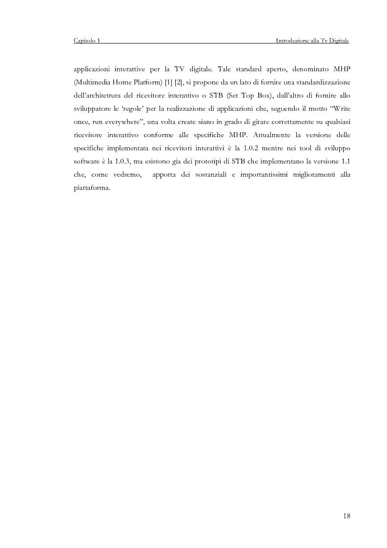 Anteprima della tesi: Sviluppo di un servizio di teleprenotazione eventi per Tv digitale su piattaforma DVB-MHP, Pagina 7