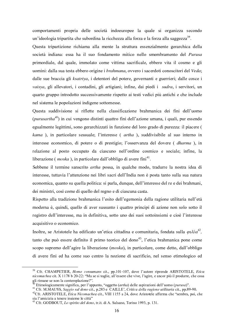 Anteprima della tesi: A partire da Marcel Mauss: il paradosso del dono fra reciprocità e dispendio., Pagina 13
