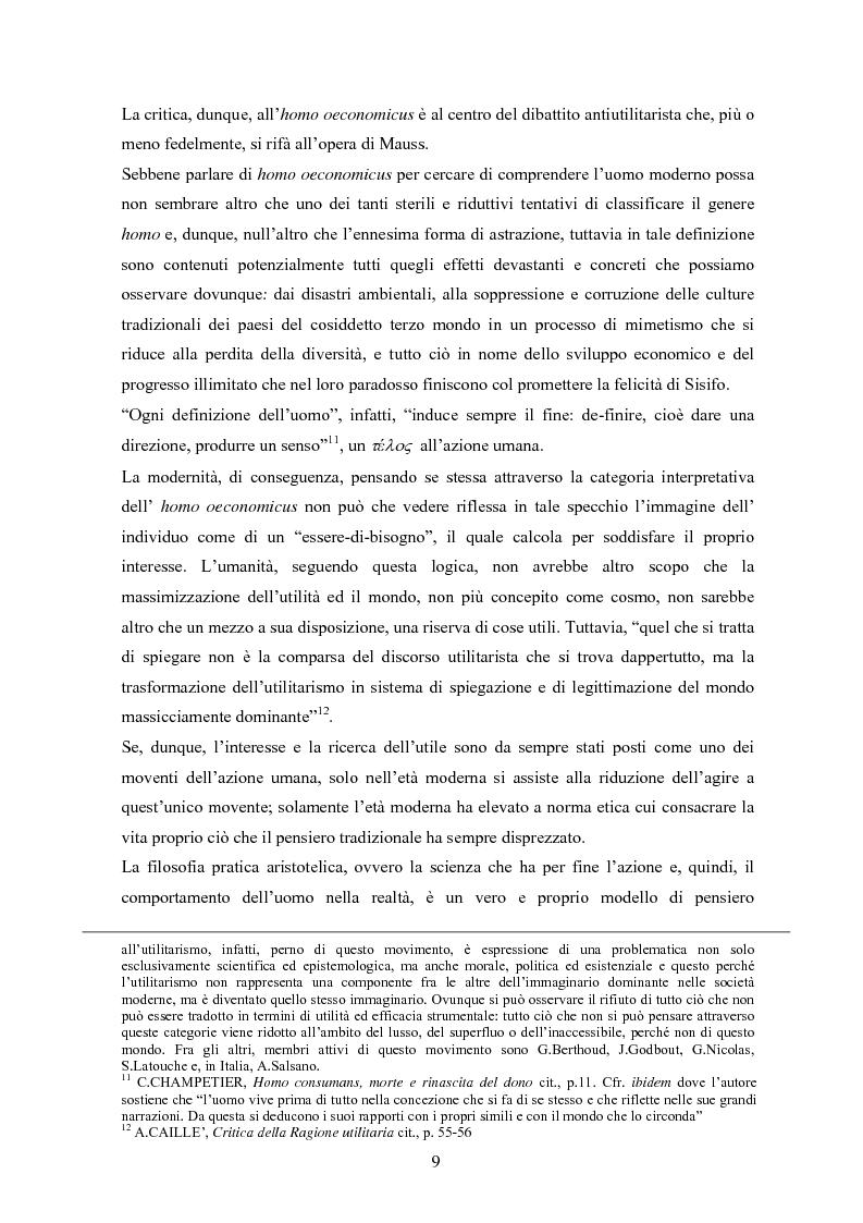 Anteprima della tesi: A partire da Marcel Mauss: il paradosso del dono fra reciprocità e dispendio., Pagina 6