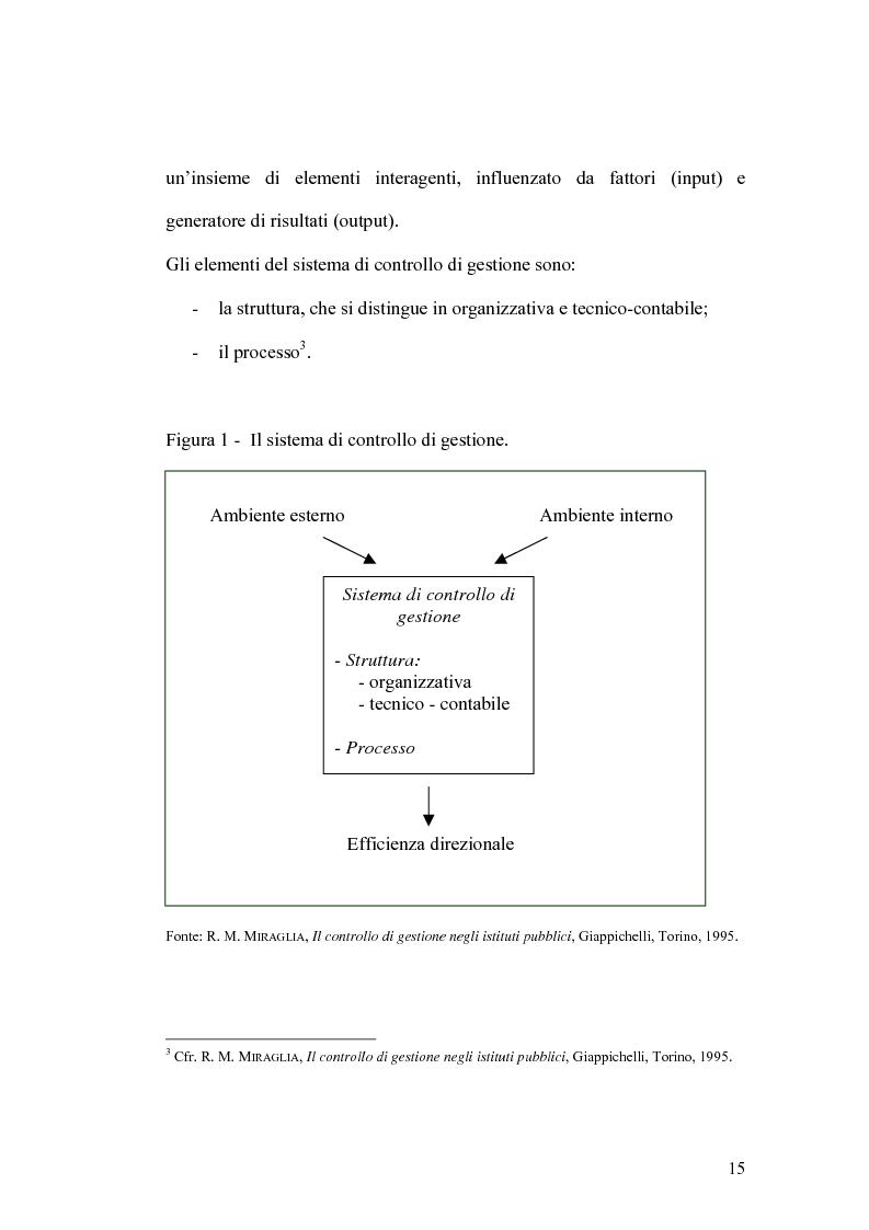 Anteprima della tesi: Il controllo di gestione e la misura della performance dell'azienda pubblica: l'analisi dell'efficienza con il sistema SICOGE, Pagina 15