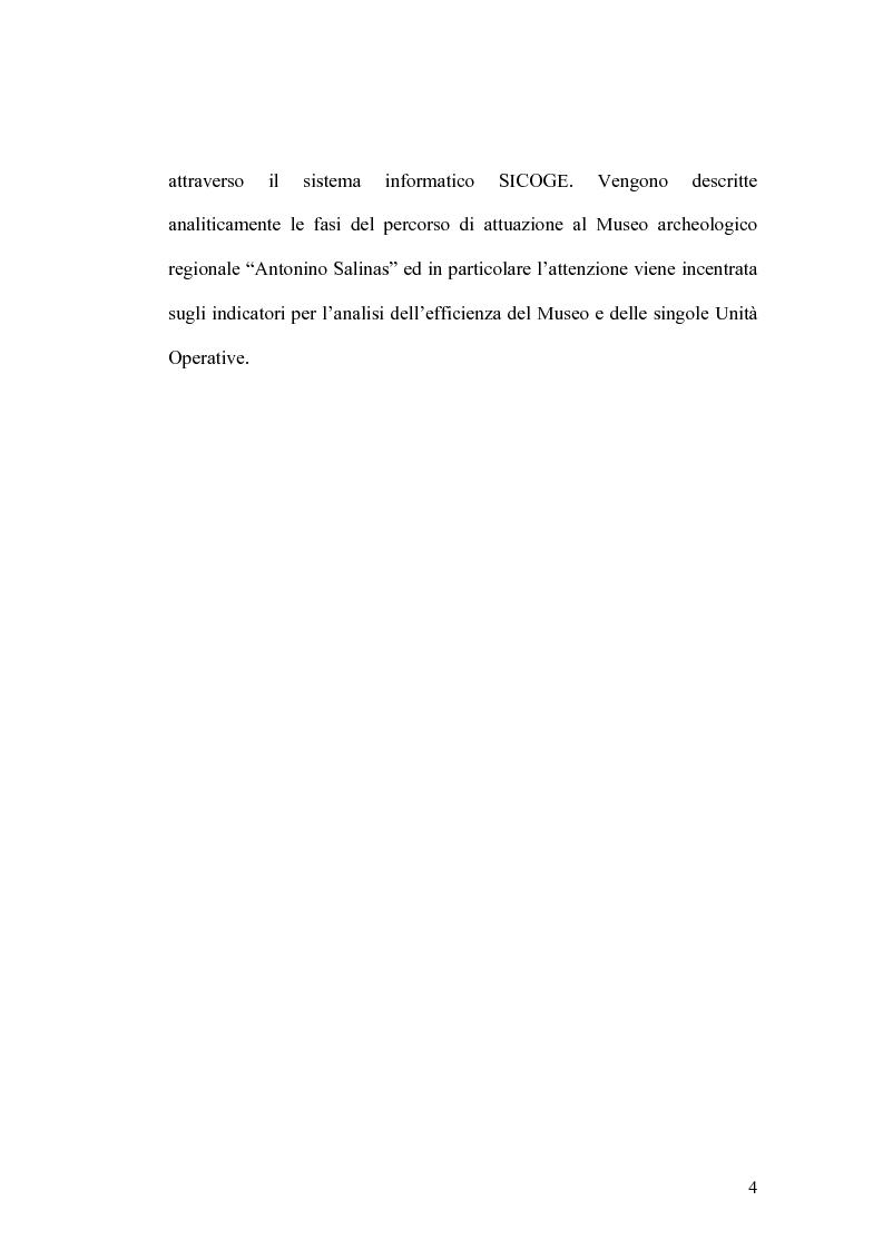 Anteprima della tesi: Il controllo di gestione e la misura della performance dell'azienda pubblica: l'analisi dell'efficienza con il sistema SICOGE, Pagina 4