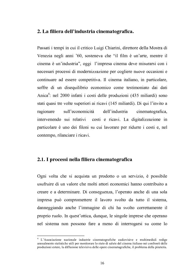 Anteprima della tesi: Il Cinema Digitale: un'opportunità per lo sviluppo della cinematografia, Pagina 11