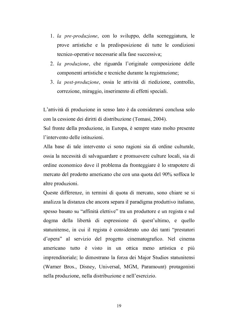 Anteprima della tesi: Il Cinema Digitale: un'opportunità per lo sviluppo della cinematografia, Pagina 14