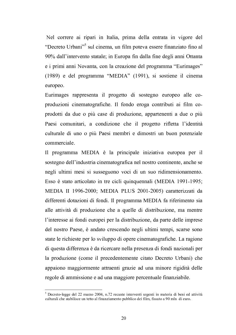 Anteprima della tesi: Il Cinema Digitale: un'opportunità per lo sviluppo della cinematografia, Pagina 15