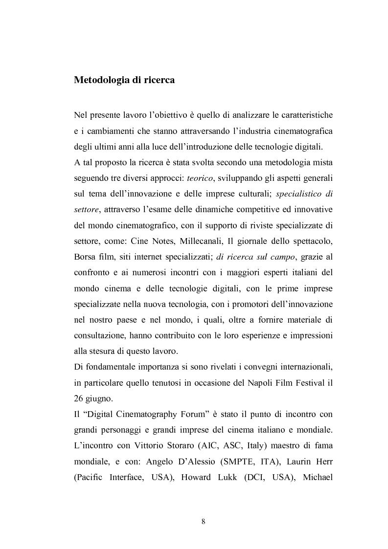 Anteprima della tesi: Il Cinema Digitale: un'opportunità per lo sviluppo della cinematografia, Pagina 4