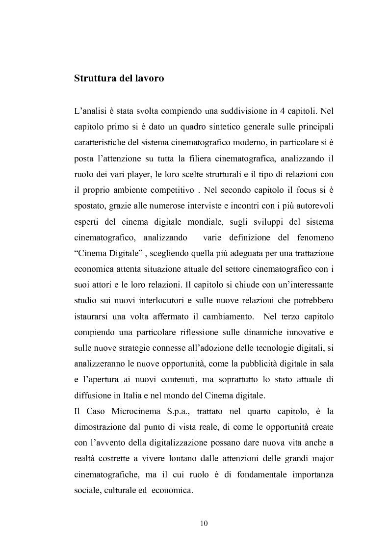 Anteprima della tesi: Il Cinema Digitale: un'opportunità per lo sviluppo della cinematografia, Pagina 6