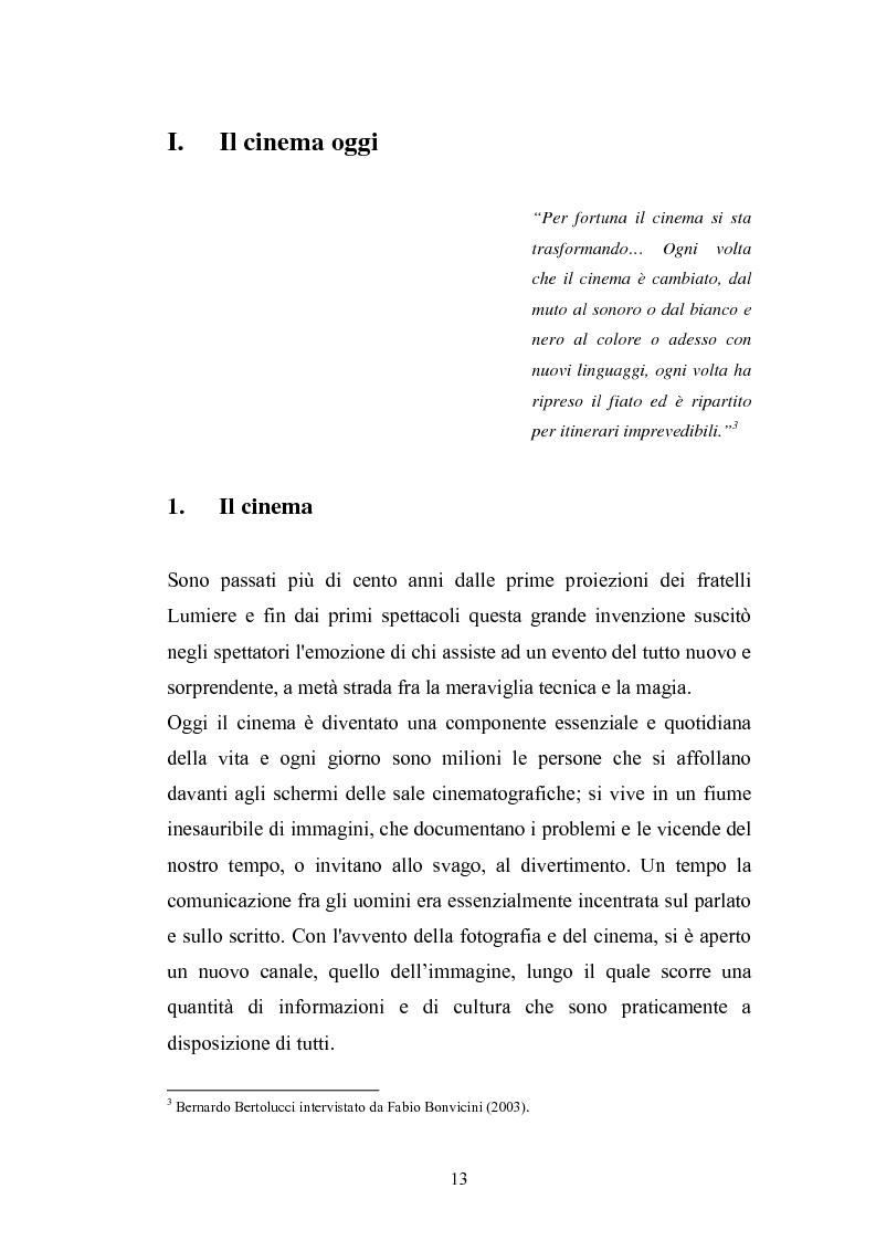 Anteprima della tesi: Il Cinema Digitale: un'opportunità per lo sviluppo della cinematografia, Pagina 8
