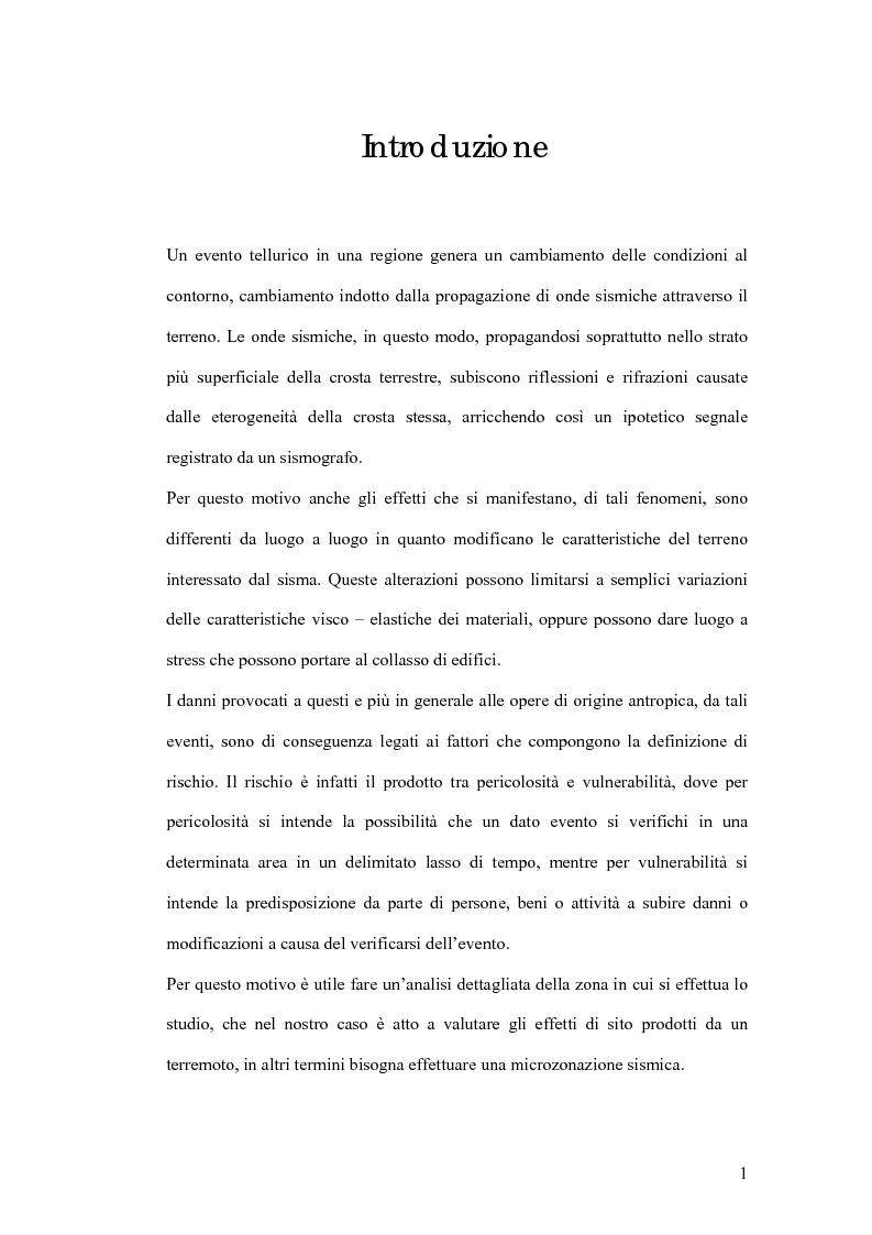 Anteprima della tesi: Studio preliminare della microzonazione sismica del comune di Pozzuoli, Pagina 1