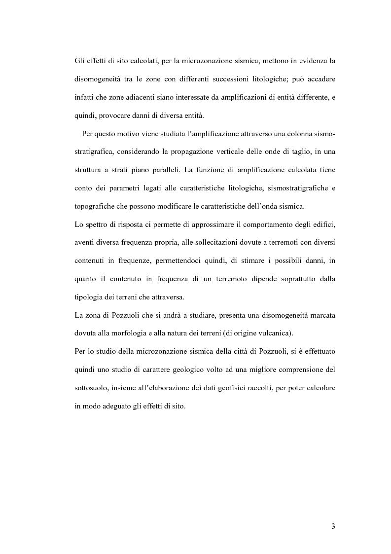 Anteprima della tesi: Studio preliminare della microzonazione sismica del comune di Pozzuoli, Pagina 3