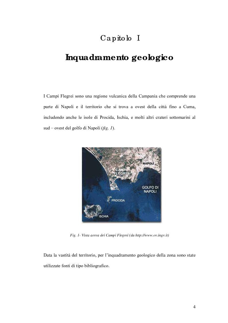 Anteprima della tesi: Studio preliminare della microzonazione sismica del comune di Pozzuoli, Pagina 4