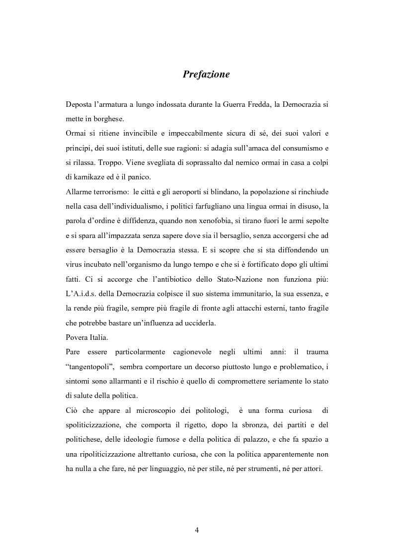 Anteprima della tesi: Antipolitica: una minaccia per la democrazia in Italia, Pagina 1