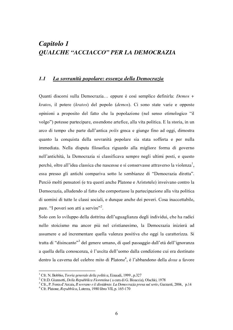Anteprima della tesi: Antipolitica: una minaccia per la democrazia in Italia, Pagina 3