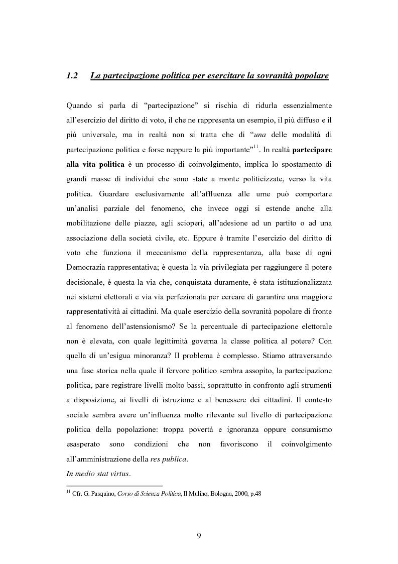 Anteprima della tesi: Antipolitica: una minaccia per la democrazia in Italia, Pagina 6