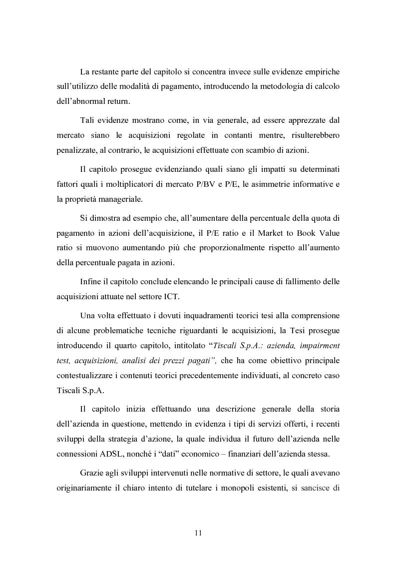 Anteprima della tesi: Le concentrazioni nel settore ICT: una analisi dei prezzi pagati da Tiscali, Pagina 11