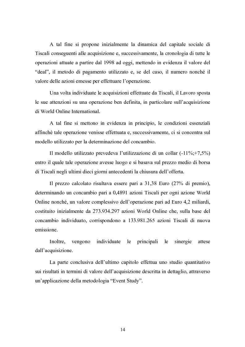 Anteprima della tesi: Le concentrazioni nel settore ICT: una analisi dei prezzi pagati da Tiscali, Pagina 14