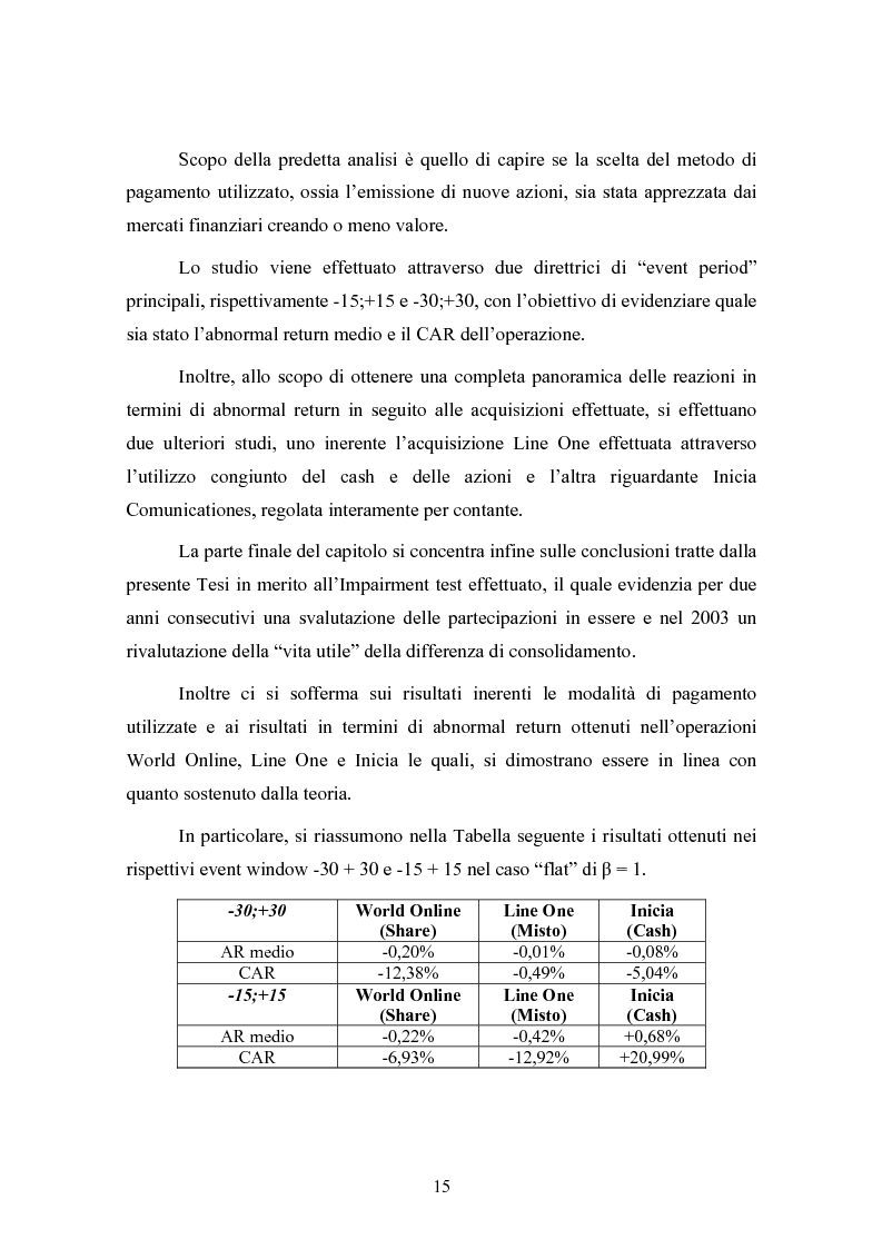 Anteprima della tesi: Le concentrazioni nel settore ICT: una analisi dei prezzi pagati da Tiscali, Pagina 15