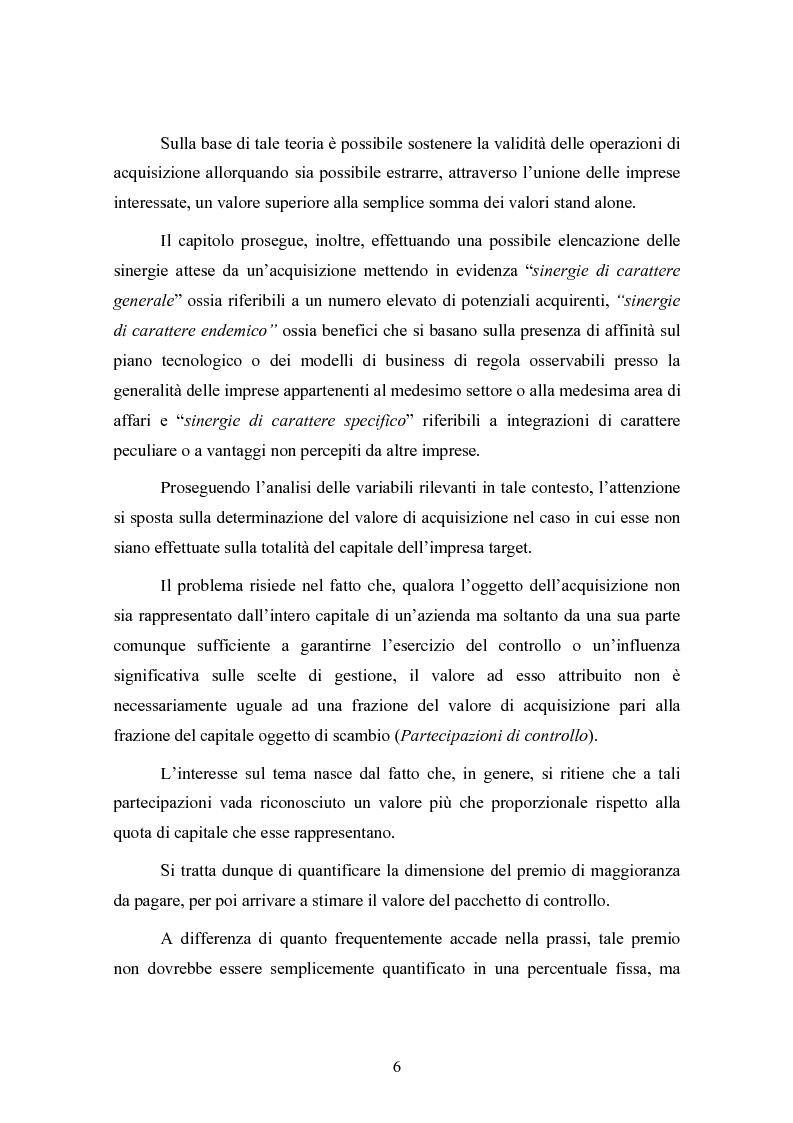 Anteprima della tesi: Le concentrazioni nel settore ICT: una analisi dei prezzi pagati da Tiscali, Pagina 6