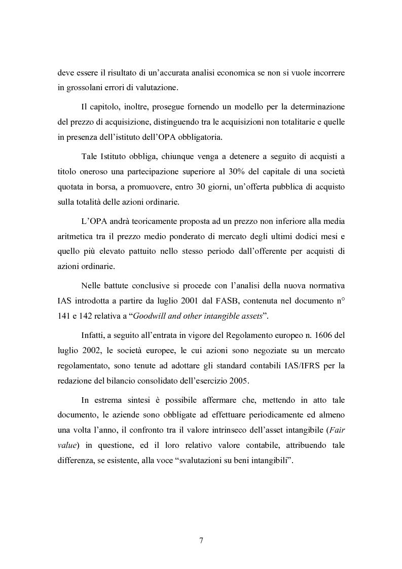 Anteprima della tesi: Le concentrazioni nel settore ICT: una analisi dei prezzi pagati da Tiscali, Pagina 7