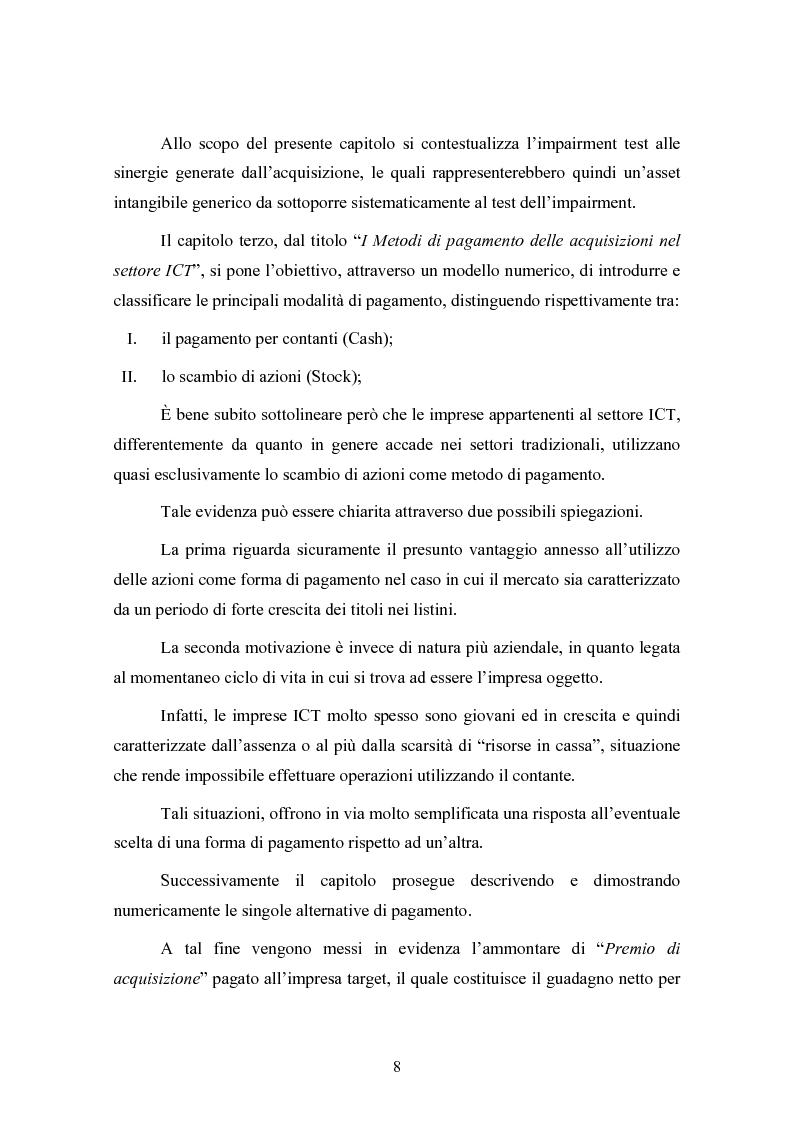 Anteprima della tesi: Le concentrazioni nel settore ICT: una analisi dei prezzi pagati da Tiscali, Pagina 8