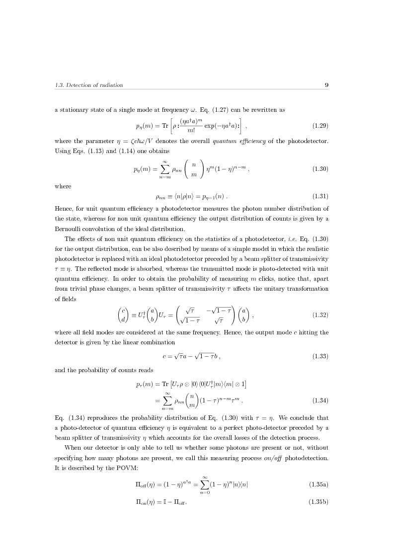 Anteprima della tesi: Effects of noise in continuous variables quantum communication and measurement, Pagina 10