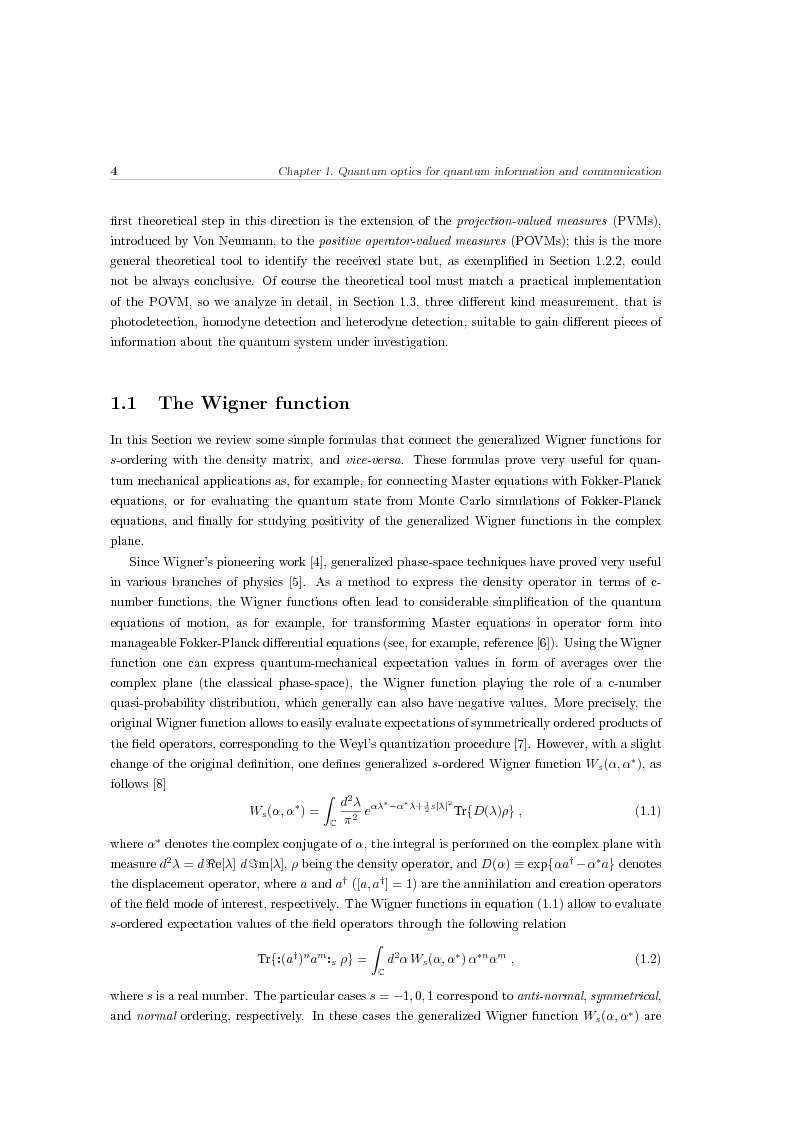 Anteprima della tesi: Effects of noise in continuous variables quantum communication and measurement, Pagina 5