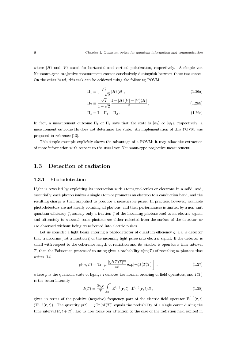 Anteprima della tesi: Effects of noise in continuous variables quantum communication and measurement, Pagina 9
