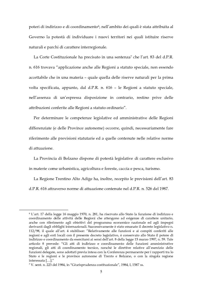Anteprima della tesi: Parchi e riserve naturali tra Stato e Regioni, Pagina 3
