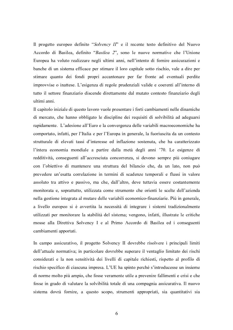 Anteprima della tesi: Stima del capitale sotto rischio di assicurazioni e banche: le nuove normative europee a confronto, Pagina 2