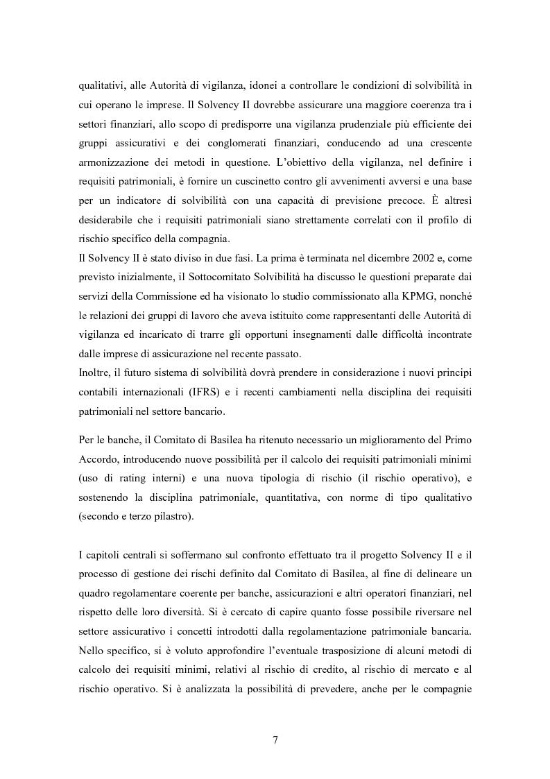 Anteprima della tesi: Stima del capitale sotto rischio di assicurazioni e banche: le nuove normative europee a confronto, Pagina 3