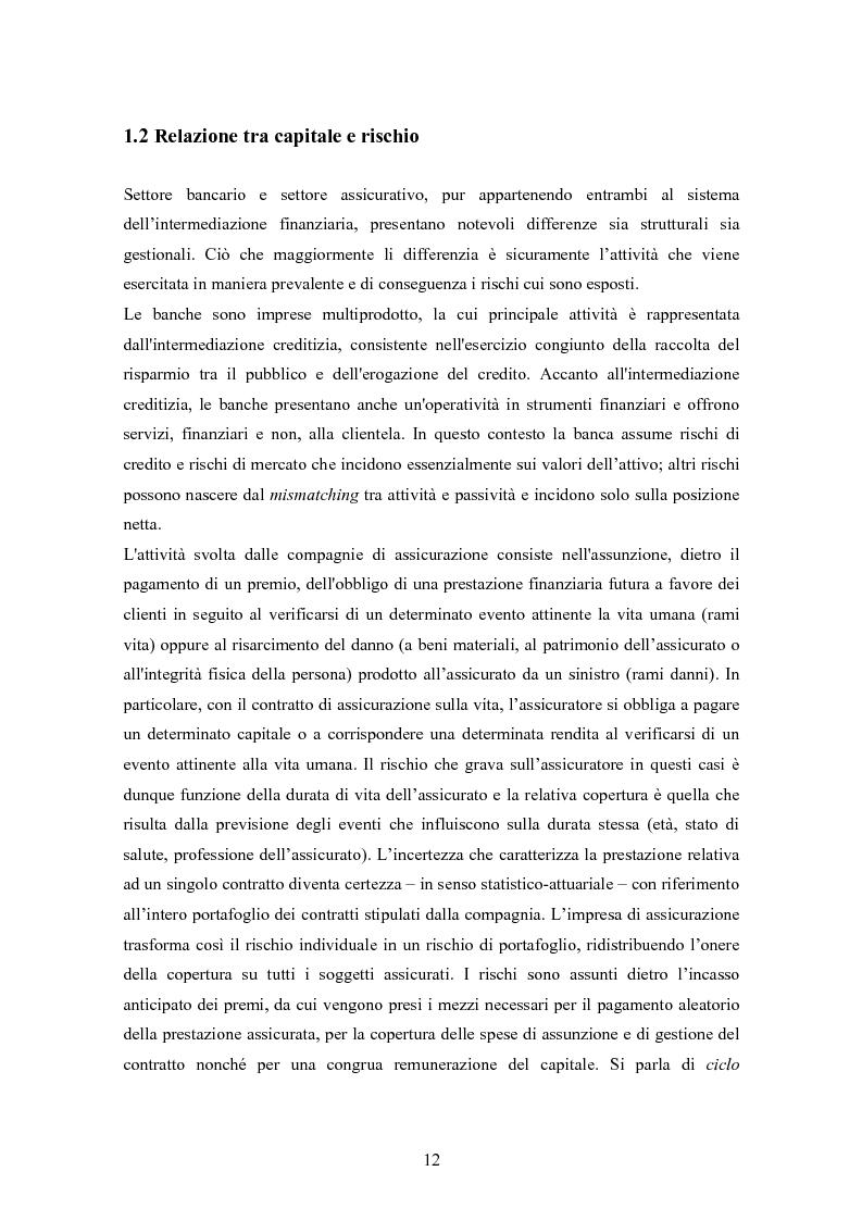 Anteprima della tesi: Stima del capitale sotto rischio di assicurazioni e banche: le nuove normative europee a confronto, Pagina 8