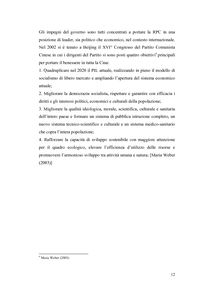 Anteprima della tesi: Gli Investimenti Diretti Esteri Nella Cina Del Nuovo Millennio: Aspetti Tributari, Pagina 10
