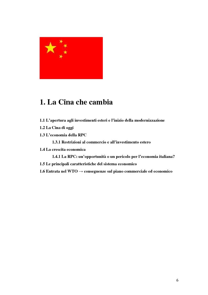 Anteprima della tesi: Gli Investimenti Diretti Esteri Nella Cina Del Nuovo Millennio: Aspetti Tributari, Pagina 4