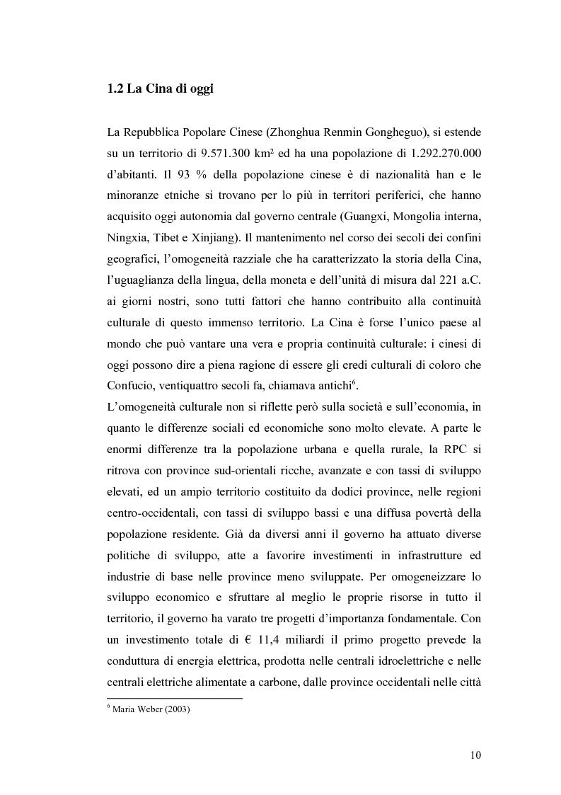 Anteprima della tesi: Gli Investimenti Diretti Esteri Nella Cina Del Nuovo Millennio: Aspetti Tributari, Pagina 8