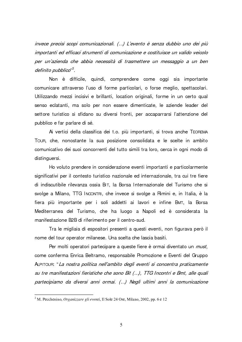 Anteprima della tesi: Gli eventi nel turismo: il caso emblematico di Teorema Tour, Pagina 2
