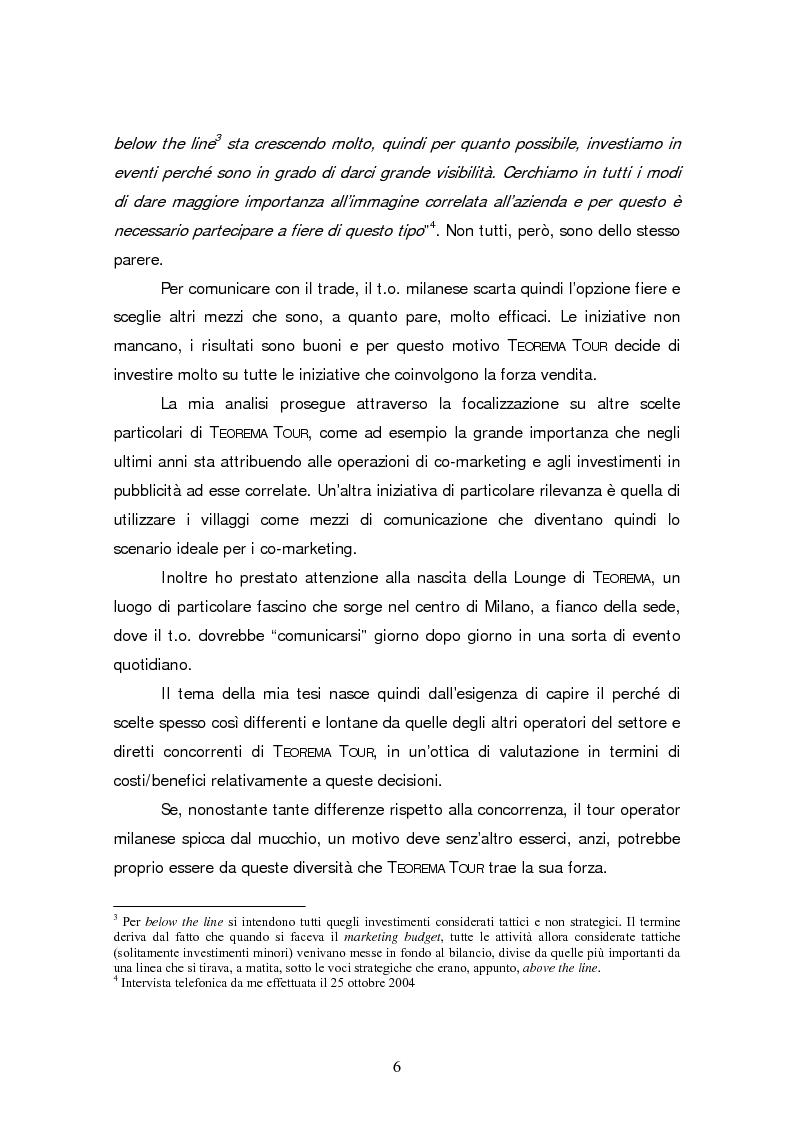 Anteprima della tesi: Gli eventi nel turismo: il caso emblematico di Teorema Tour, Pagina 3