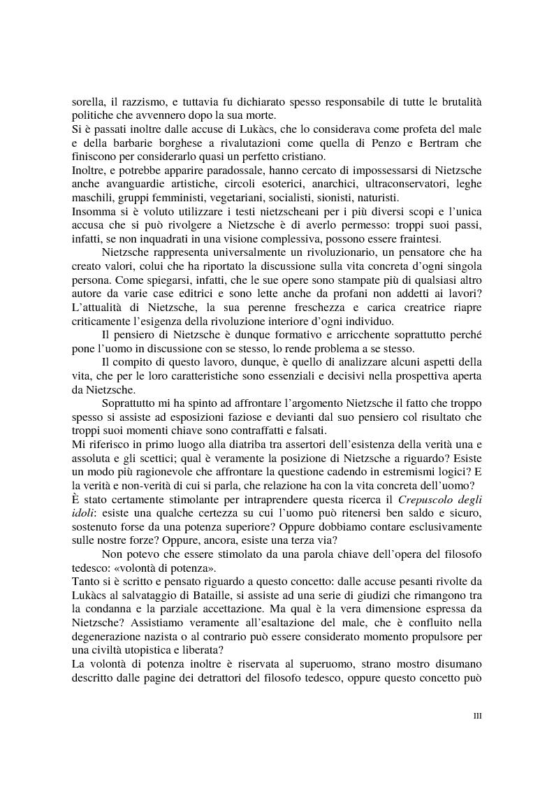 Anteprima della tesi: La morale di Nietzsche, Pagina 3