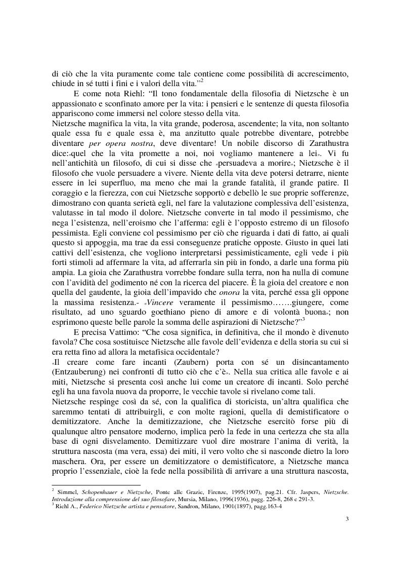 Anteprima della tesi: La morale di Nietzsche, Pagina 7