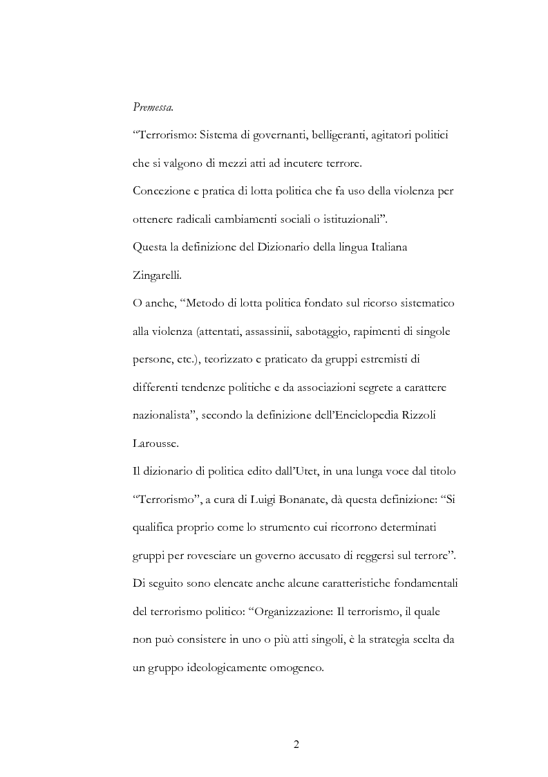 Anteprima della tesi: Geopolitica del terrorismo: rassegna di dati recenti., Pagina 2