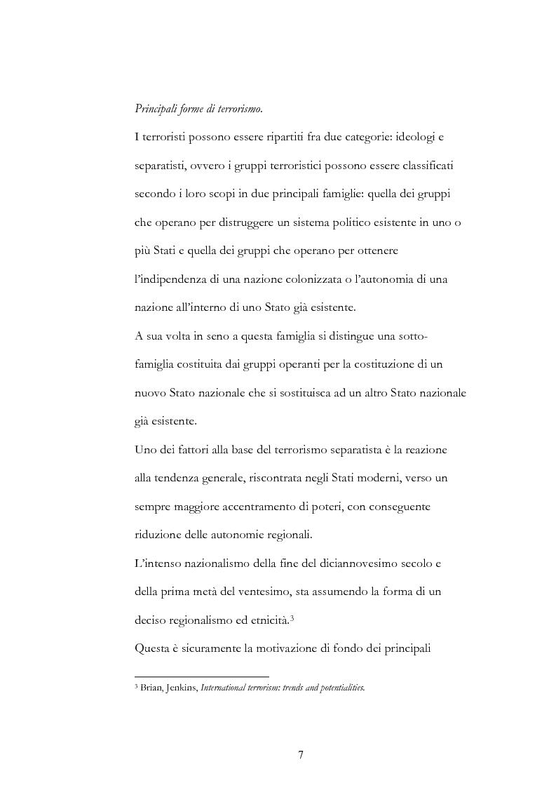 Anteprima della tesi: Geopolitica del terrorismo: rassegna di dati recenti., Pagina 7