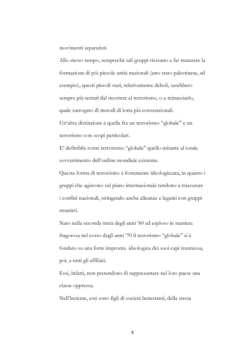 Anteprima della tesi: Geopolitica del terrorismo: rassegna di dati recenti., Pagina 8