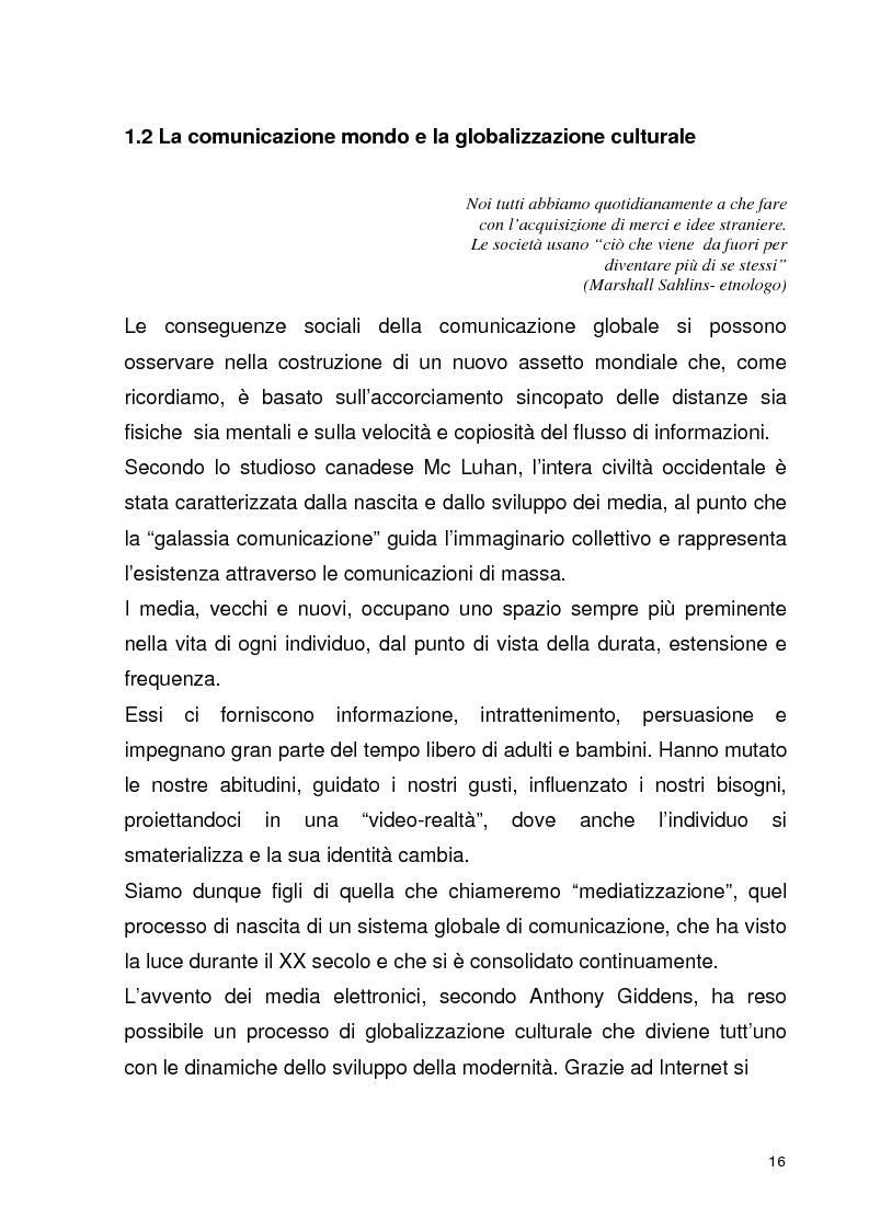 Anteprima della tesi: La globalizzazione della comunicazione pubblicitaria: le campagne internazionali, Pagina 11