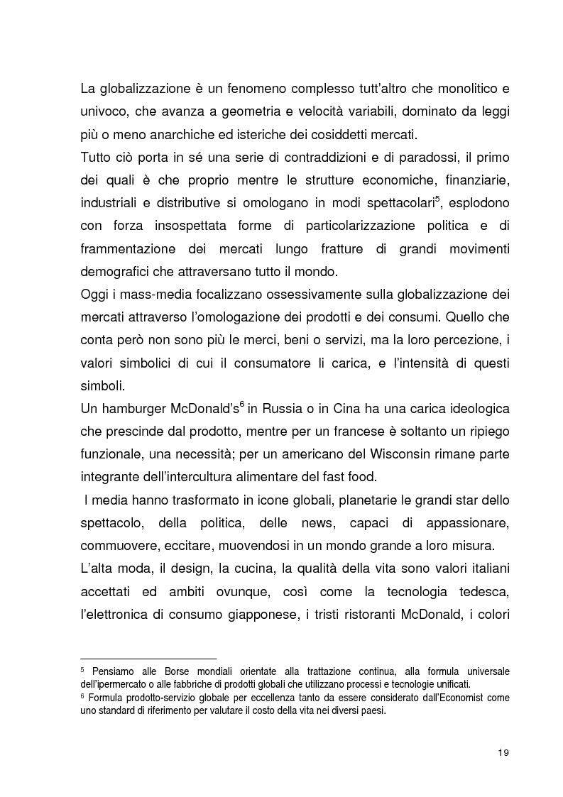 Anteprima della tesi: La globalizzazione della comunicazione pubblicitaria: le campagne internazionali, Pagina 14