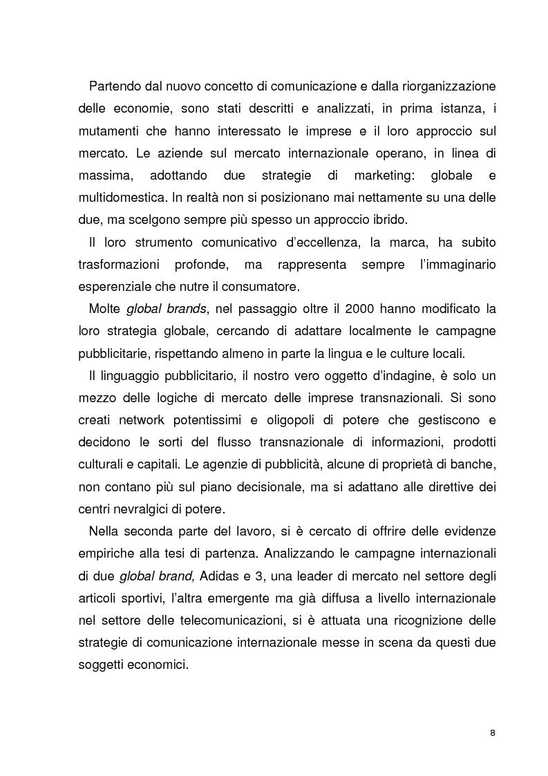 Anteprima della tesi: La globalizzazione della comunicazione pubblicitaria: le campagne internazionali, Pagina 3