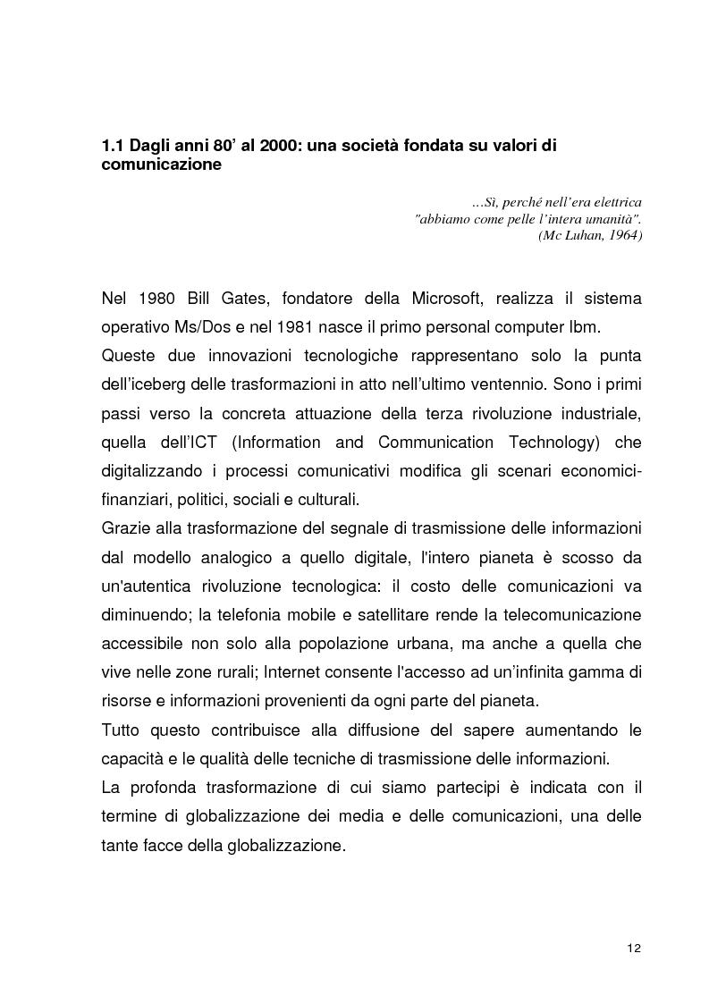 Anteprima della tesi: La globalizzazione della comunicazione pubblicitaria: le campagne internazionali, Pagina 7
