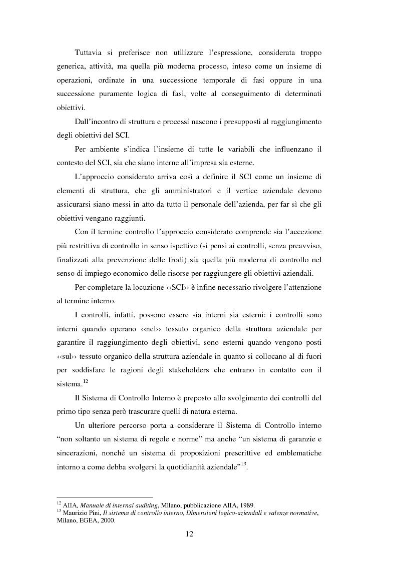 Anteprima della tesi: Il sistema dei controlli interni nelle aziende complesse, Pagina 11