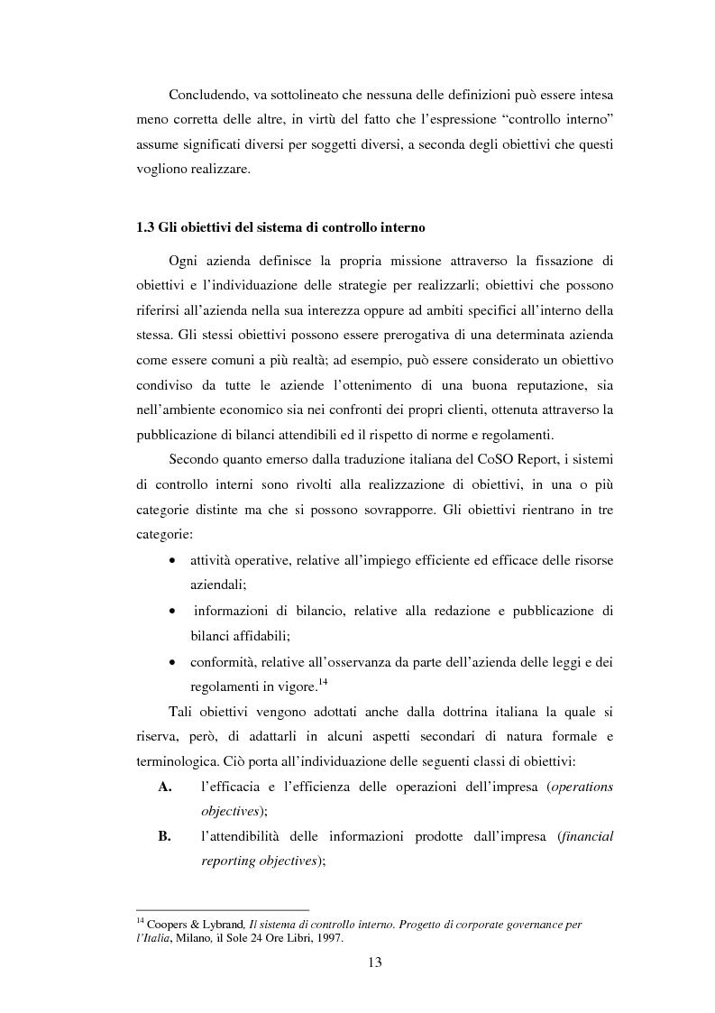 Anteprima della tesi: Il sistema dei controlli interni nelle aziende complesse, Pagina 12