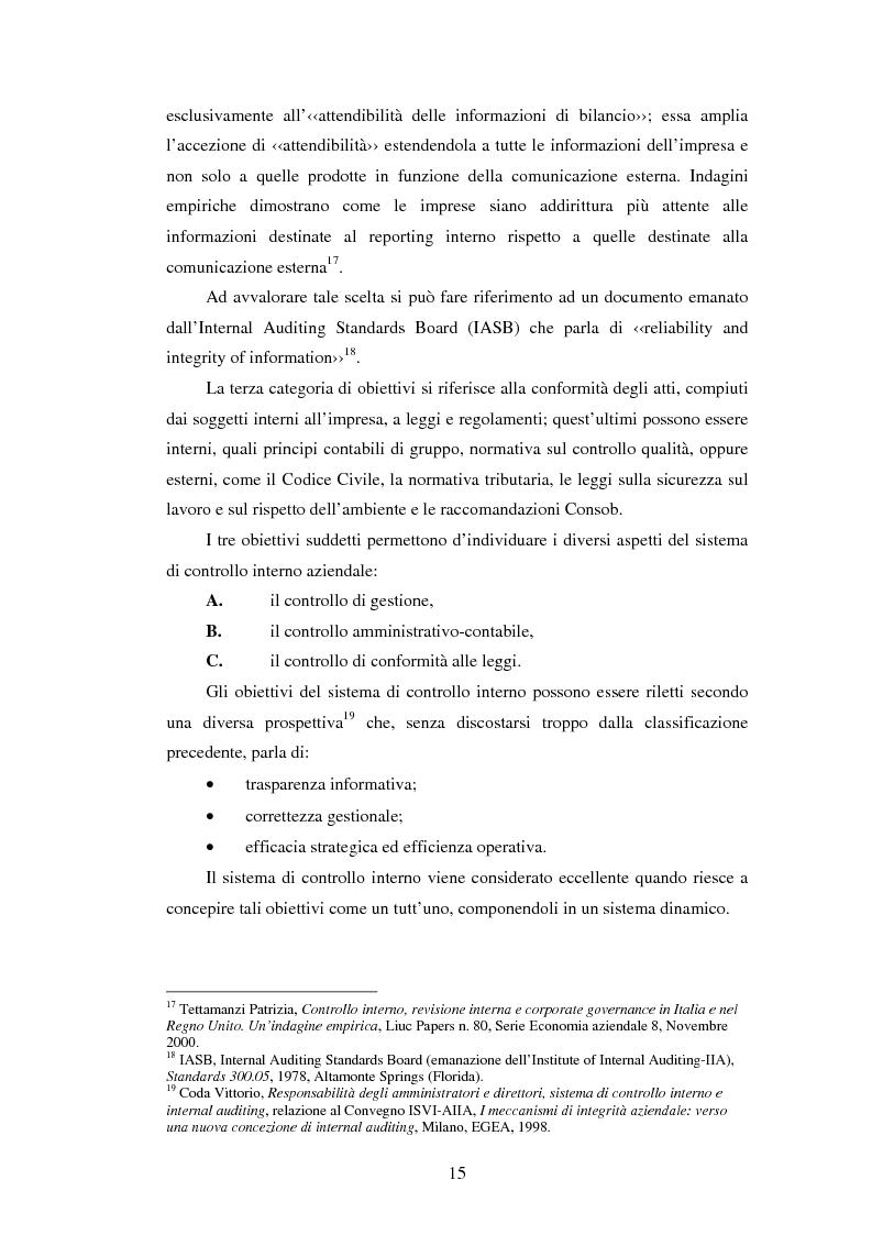 Anteprima della tesi: Il sistema dei controlli interni nelle aziende complesse, Pagina 14